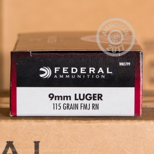 Picture of 9MM LUGER FEDERAL CHAMPION 115 GRAIN FMJ (50 ROUNDS)