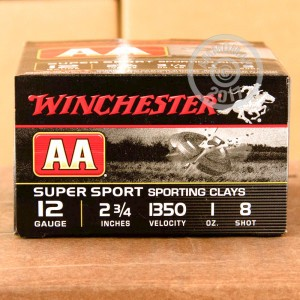 "Picture of 12 GAUGE WINCHESTER AA SUPER SPORT SPORTING CLAYS 2-3/4"" 1 OZ. #8 SHOT (25 ROUNDS)"