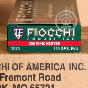 Picture of 308 WIN FIOCCHI SHOOTING DYNAMICS 150 GRAIN FMJ (200 ROUNDS)