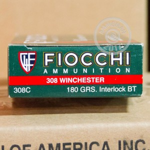 Picture of .308 WINCHESTER FIOCCHI 180 GRAIN PSP (20 ROUNDS)