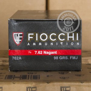 Picture of 7.62 NAGANT FIOCCHI  97 GRAIN FMJ (50 ROUNDS)