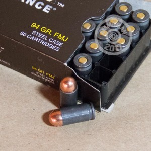 Photo of 9x18 Makarov FMJ ammo by Wolf for sale at AmmoMan.com.