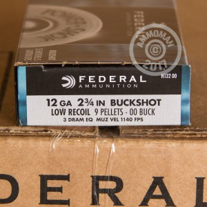 "Picture of 12 GAUGE FEDERAL POWER-SHOK LOW RECOIL 2-3/4"" 00 BUCK (5 ROUNDS)"