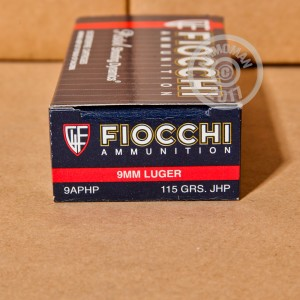 Picture of 9MM LUGER FIOCCHI 115 GRAIN JHP (50 ROUNDS)