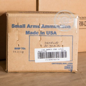 Picture of 308 ARMSCOR 147 GRAIN FMJ (200 ROUNDS)