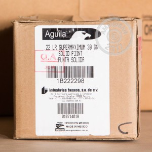 Picture of 22 LR AGUILA SUPER EXTRA 30 GRAIN COPPER PLATED SOFT POINT (500 ROUNDS)