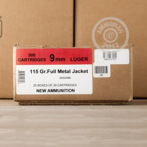 Picture of 9MM LUGER BLACK HILLS 115 GRAIN FMJ (20 ROUNDS)