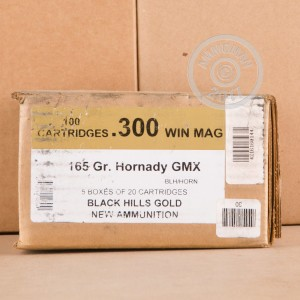 Picture of 300 WIN MAG BLACK HILLS GOLD 165 GRAIN HORNADY GMX (20 ROUNDS)
