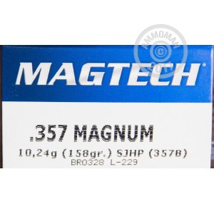 Picture of 357 MAGNUM MAGTECH 158 GRAIN SJHP (50 ROUNDS)