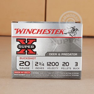 "Picture of 20 GAUGE WINCHESTER SUPER-X 2-3/4"" #3 BUCK (5 ROUNDS)"