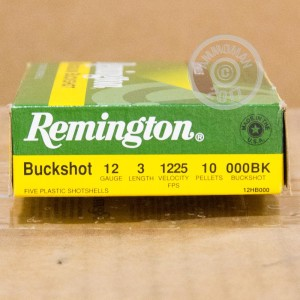 000 BUCK shotgun rounds for sale at AmmoMan.com - 5 rounds.