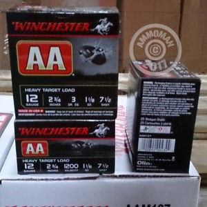 """Picture of 12 GAUGE #7-1/2 WINCHESTERAA  1-1/8 OZ 2-3/4""""(25 ROUNDS)"""