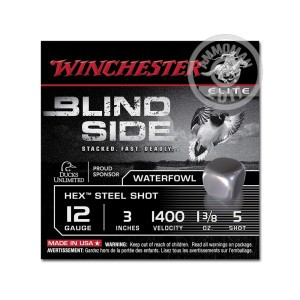 "Picture of 12 GAUGE WINCHESTER ELITE BLIND SIDE WATERFOWL 3"" 1-3/8 OZ. #5 HEX STEEL SHOT (25 ROUNDS)"