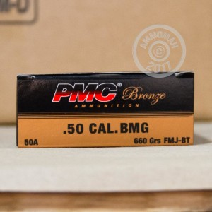 Picture of 50 Cal BMG - 660 gr FMJBT - PMC - 10 Rounds