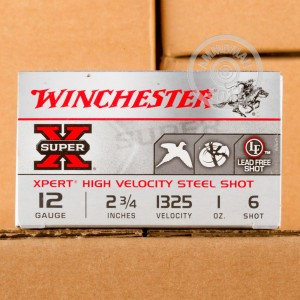"""Picture of 12 GAUGE WINCHESTER SUPER-X XPERT HIGH VELOCITY 2-3/4"""" 1 OZ. #6 SHOT (100 ROUNDS)"""