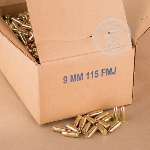 Picture of 9MM LUGER DRS RE-MANUFACTURED 115 GRAIN FMJ (100 ROUNDS)