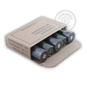 "Picture of 12 GAUGE WINCHESTER MILITARY 2-3/4"" #00 BUCK (250 ROUNDS)"