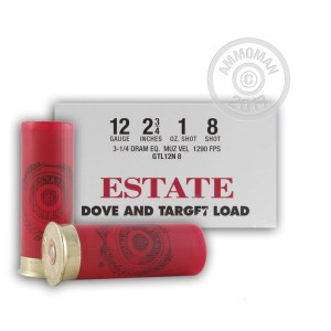 "Picture of 12 GAUGE ESTATE DOVE AND TARGET LOAD 2-3/4"" 1 OZ. #8 LEAD SHOT (250 ROUNDS)"