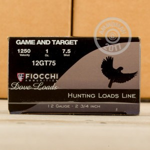"Picture of 12 GAUGE FIOCCHI GAME AND TARGET 2-3/4"" #7.5 SHOT (250 SHELLS)"