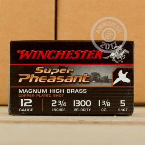 "Picture of 12 GAUGE WINCHESTER SUPER PHEASANT 2-3/4"" 1-3/8 OZ. #5 SHOT (25 ROUNDS)"