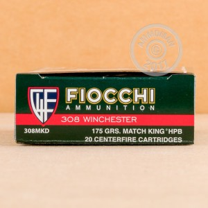 Picture of 308 WINCHESTER FIOCCHI EXACTA 175 GRAIN MATCHKING HP-BT (20 ROUNDS)