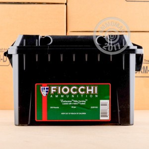 Image of 223 Remington ammo by Fiocchi that's ideal for hunting varmint sized game, precision shooting, training at the range, whitetail hunting.