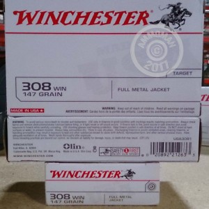 Picture of 308 WIN WINCHESTER 147 GRAIN FMJ (20 ROUNDS)