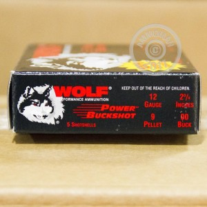 "Picture of 12 GAUGE WOLF POWER BUCKSHOT 2-3/4"" 00 BUCK (5 ROUNDS)"
