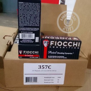 Picture of 357 MAGNUM FIOCCHI SHOOTING DYNAMICS 125 GRAIN JSP (50 ROUNDS)