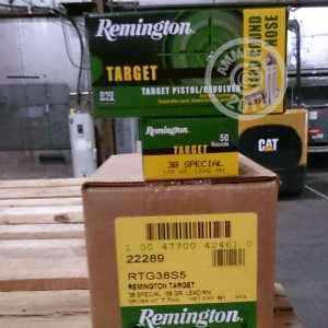 Picture of 38 SPECIAL REMINGTON TARGET 158 GRAIN LRN (50 ROUNDS)