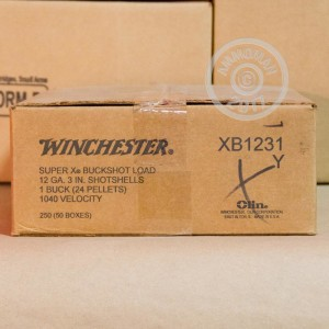 "Picture of 12 GAUGE WINCHESTER SUPER-X 3"" #1 BUCK (250 SHELLS)"