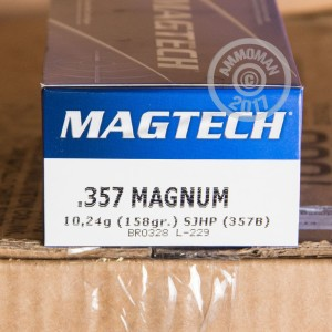 Picture of 357 MAGNUM MAGTECH 158 GRAIN SJHP (1000 ROUNDS)
