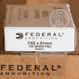 Picture of 7.62x51MM FEDERAL 149 GRAIN XM80CL FMJ (500 ROUNDS)