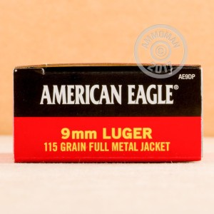 Picture of 9MM LUGER FEDERAL AMERICAN EAGLE 115 GRAIN FMJ (50 ROUNDS)