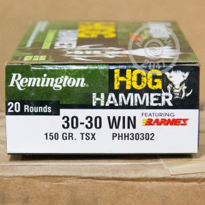 Picture of 30-30 WINCHESTER REMINGTON HOG HAMMER TSX 150 GRAIN HP (20 ROUNDS)