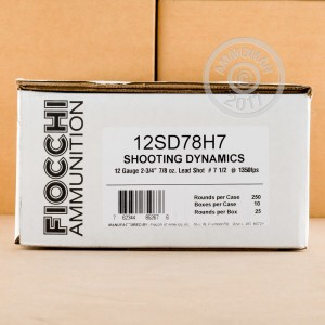 """Picture of 12 GAUGE FIOCCHI 2 3/4"""" 7/8 OZ. #7.5 SHOT TARGET LOAD (250 ROUNDS)"""