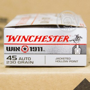 Picture of .45 ACP WINCHESTER WIN 1911 230 GRAIN JHP (50 ROUNDS)
