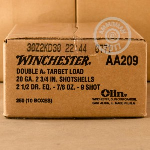 "Picture of 20 GAUGE WINCHESTER AA TARGET LOAD 2 3/4"" 7/8 OZ. #9 SHOT (25 ROUNDS)"