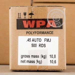 Picture of .45 ACP WOLF POLYFORMANCE 230 GRAIN FMJ (50 ROUNDS)