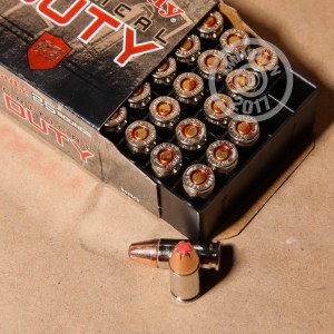 Picture of 9MM HORNADY CRITICAL DUTY 135 GRAIN FLEXLOCK JHP (25 ROUNDS)