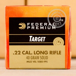 Picture of 22 LR FEDERAL GOLD MEDAL TARGET 40 GRAIN LRN SUBSONIC (500 ROUNDS)