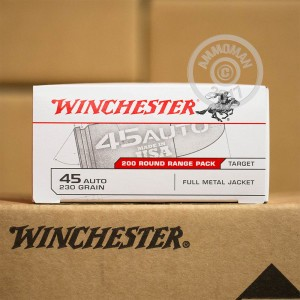 Picture of 45 ACP WINCHESTER RANGE PACK 230 GRAIN FMJ (200 ROUNDS)