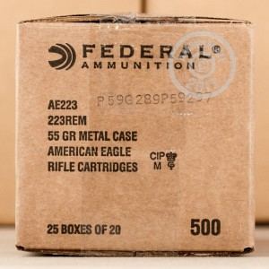 Picture of 223 REM FEDERAL AMERICAN EAGLE 55 GRAIN FMJBT (20 ROUNDS)