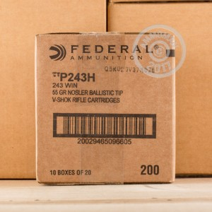Picture of 243 WIN FEDERAL VITAL-SHOK 55 GRAIN NOSLER BALLISTIC TIP (20 ROUNDS)