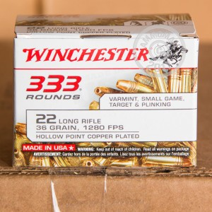 Picture of 22 LR - 36 gr CPHP - Winchester - 3,330 Rounds