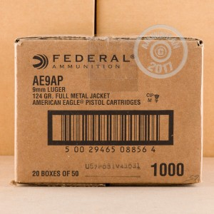 Image of 9mm Luger ammo by Federal that's ideal for training at the range.