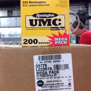 Picture of .223 REMINGTON UMC MEGA PACK 45 GRAIN JHP (200 ROUNDS)