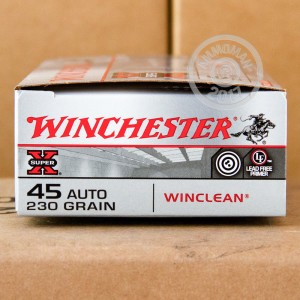 Picture of 45 ACP WINCHESTER WINCLEAN 230 GRAIN TMJ (50 ROUNDS)