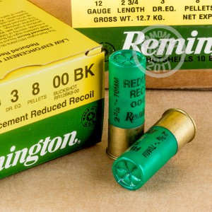 "Picture of 12 GAUGE REMINGTON LAW ENFORCEMENT REDUCED RECOIL 2-3/4""  #00 BUCK SHOT (25 ROUNDS)"