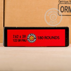 Picture of 7.62X39 RED ARMY STANDARD 122 GRAIN FMJ (180 ROUNDS)